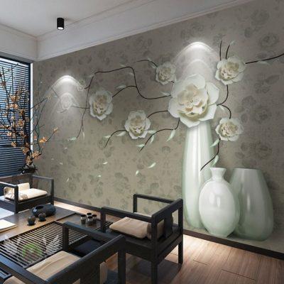 Gạch 3D trang trí phòng khách