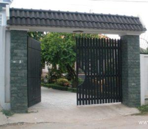 Cột cổng đẹp hơn với đá xanh hải dương