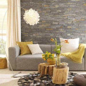 Bức tranh đẹp được tạo bởi đá ốp tường tự nhiên