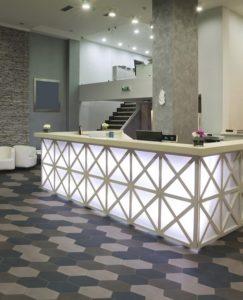 Gạch bông lục giác trang trí nhà hàng