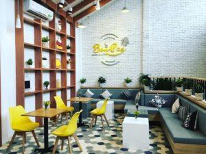 Gạch bông lục giác trang trí quán cafe