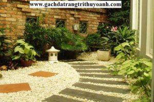 Biến sỏi đá tự nhiên thành đồ trang trí sân vườn tuyệt đẹp
