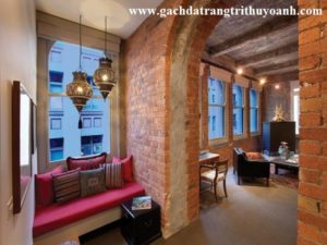 Phong cách hơn với gạch không trát, gạch cổ trang trí nhà hàng, quán cà phê