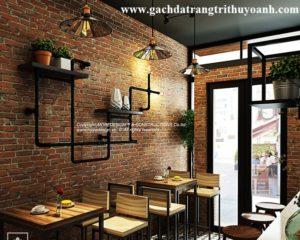 Quán cafe đẹp mang phong cách hiện đại bằng gạch đất nung
