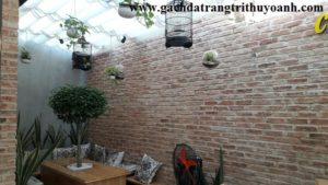Tạo sự nổi bật cho bức tường bằng gạch không trât