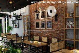 Trang trí quán cà phê, nhà hàng bằng gạch cổ