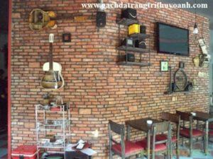 gạch cổ trang trí quán cà phê