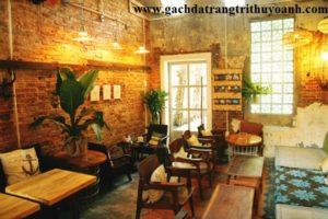 nhà hàng, quán ăn, quán cafe nổi bất hơn khi trang trí gạch cổ, gạch không trát