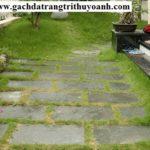 Đá tẩy xanh lát sân vườn