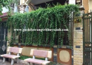 Trang trí cột cổng bằng đá bóc vàng tự nhiên