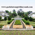 Tiểu cảnh sân vườn trang trí bằng đá bóc vàng