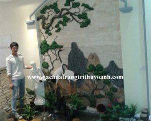 Đá bóc trắng ốp tường trang trí cho ngôi nhà