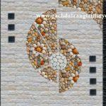 Tranh đá trang trí bằng sỏi và đá bóc trắng