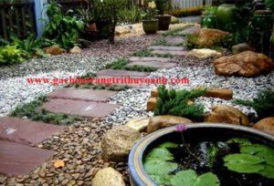 Tô điểm cho sân vườn bằng sỏi tự nhiên