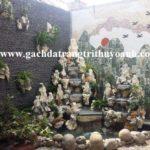 Tiểu cảnh sân vườn trang trí bằng sỏi và đá suối quy cách