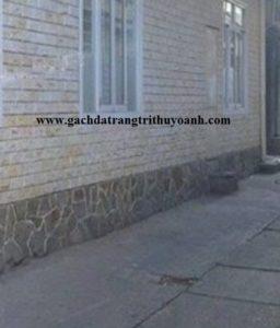 Trang trí tường bằng đá bóc vàng soi cạnh