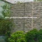 Tô điểm cho bức tường bằng đá vân gỗ lồi