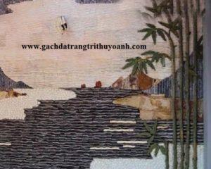 Trang trí tường bằng đá răng lược trắng