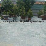 Không gian sân vườn thêm đẹp khi lát đá xanh Thanh Hóa
