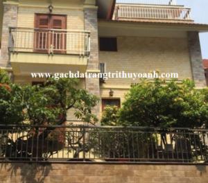 Ốp lát trang trí mặt tiền ngôi nhà bằng đá mài bóng vàng