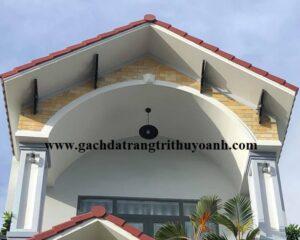 Trang trí mặt tiền ngôi nhà bằng đá mài bóng vàng cho không gian thêm đẹp